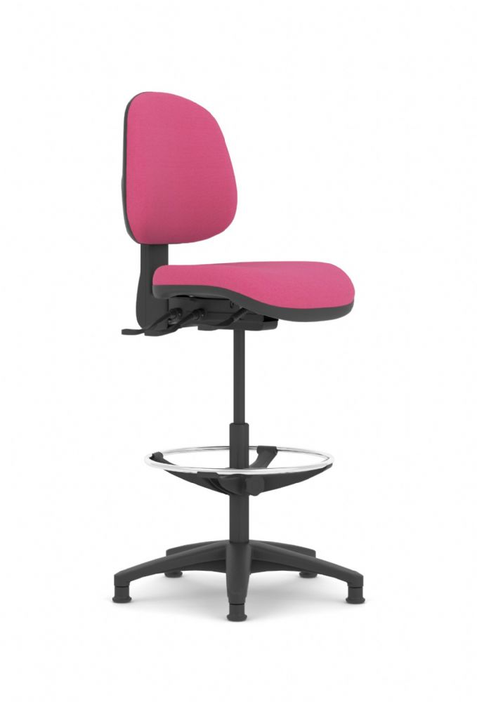 Pledge Topaz Medium Back Draughtsman Height Operator Chair